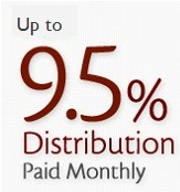Up to 9.5% distribution paid monthly
